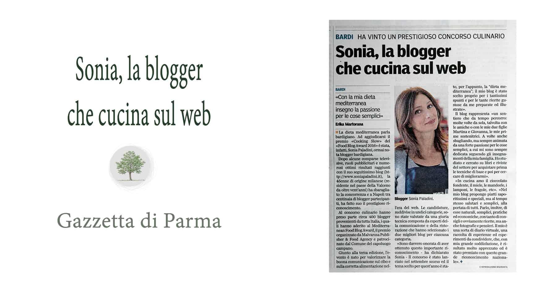 Sonia Paladini articolo Gazzetta Parma