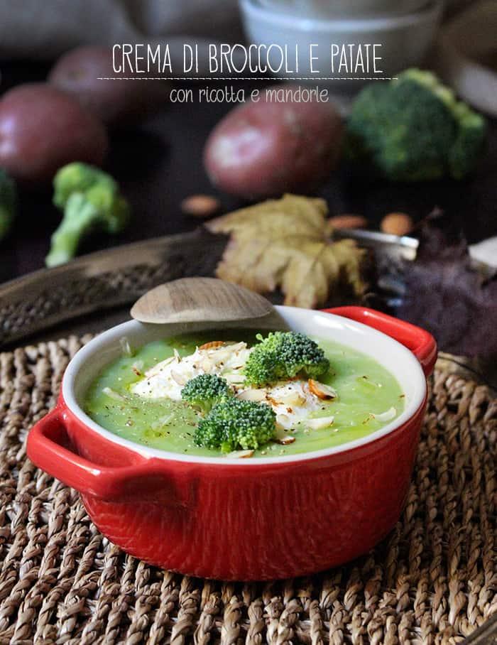 zuppa di patate broccoli e ricotta