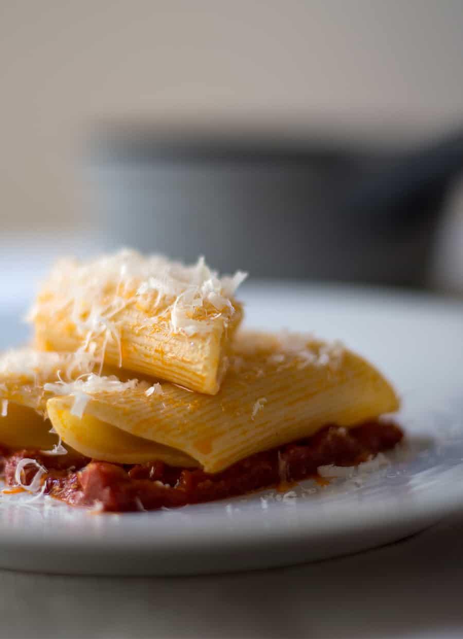 Pasta Bombardoni con Pancetta