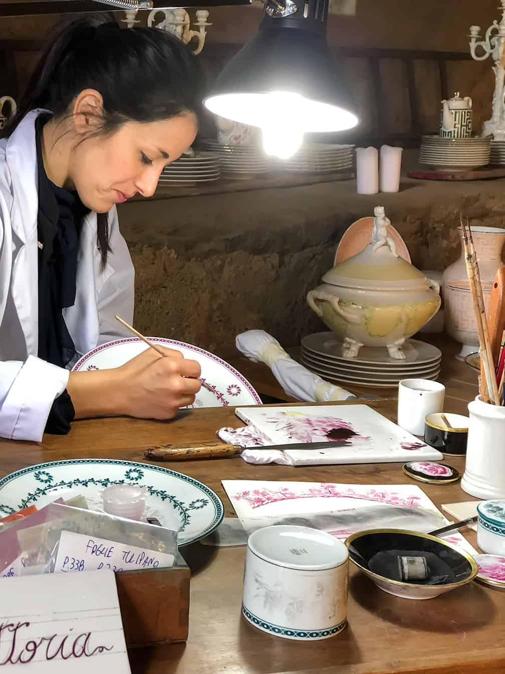 Richard Ginori lavorazione porcellana