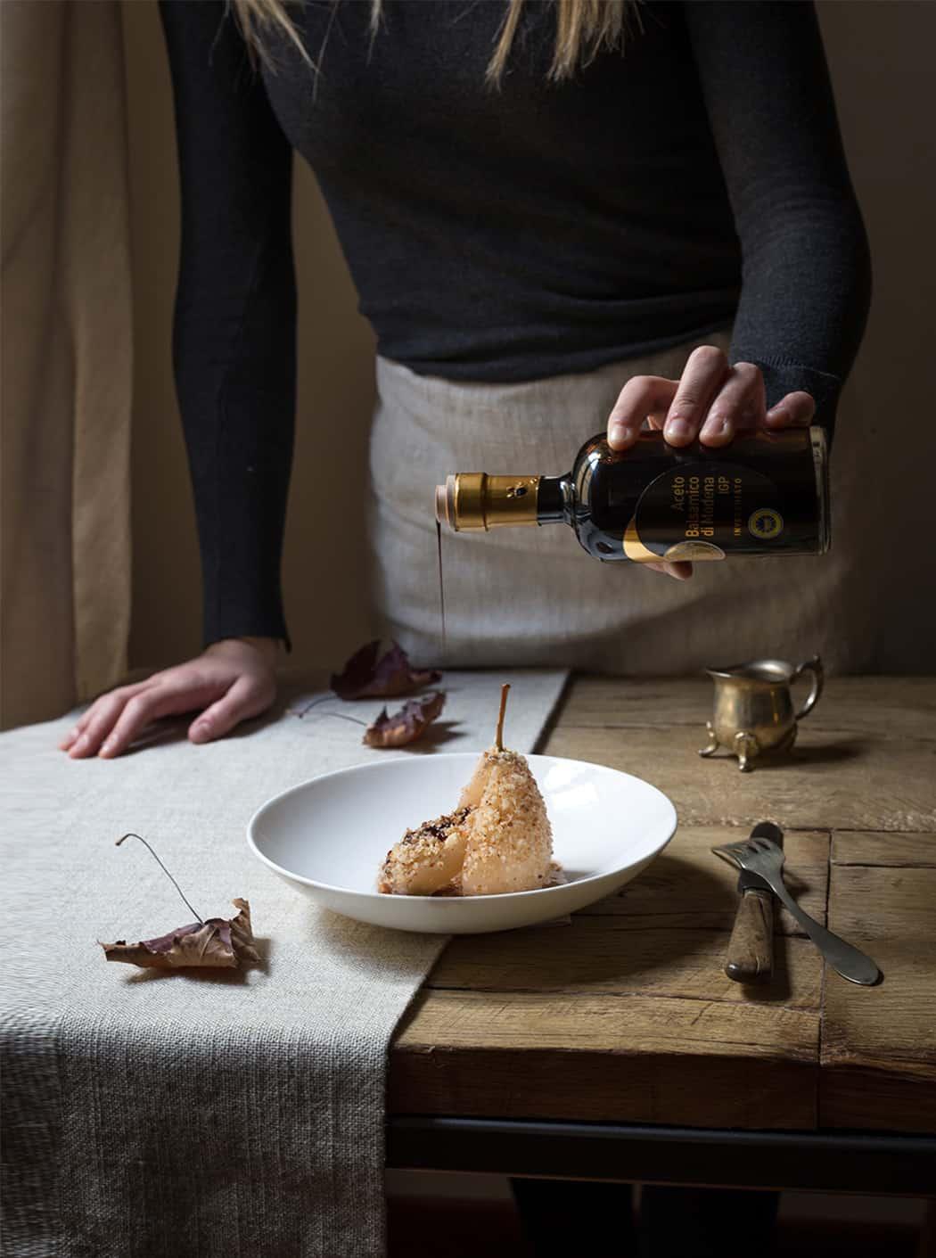 pere caramellate all'aceto balsamico di modena IGP