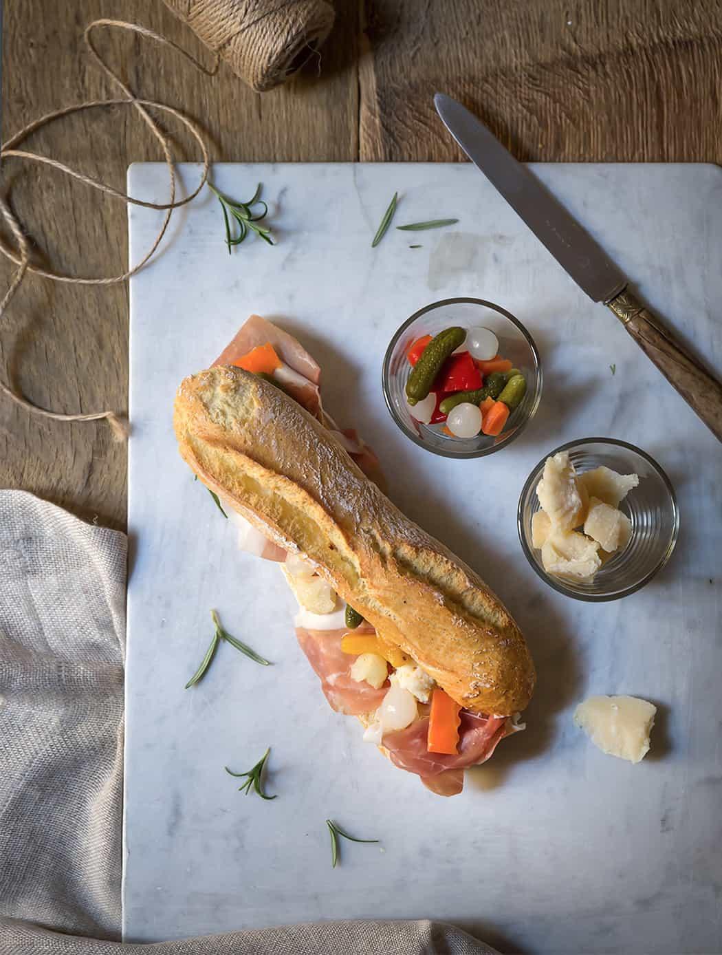 ricetta panino con prosciutto crudo