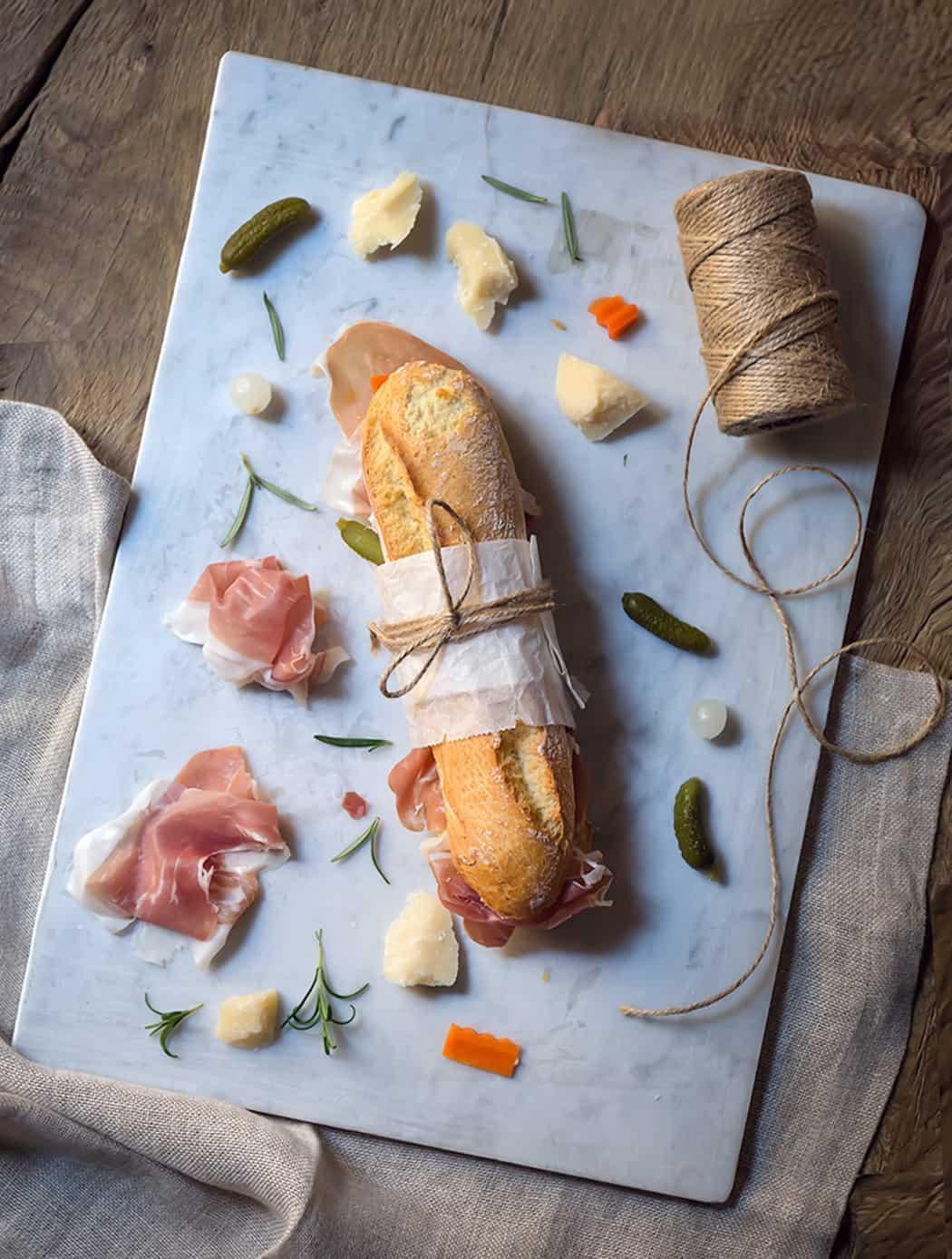 ricetta panino con prosciutto e giardiniera