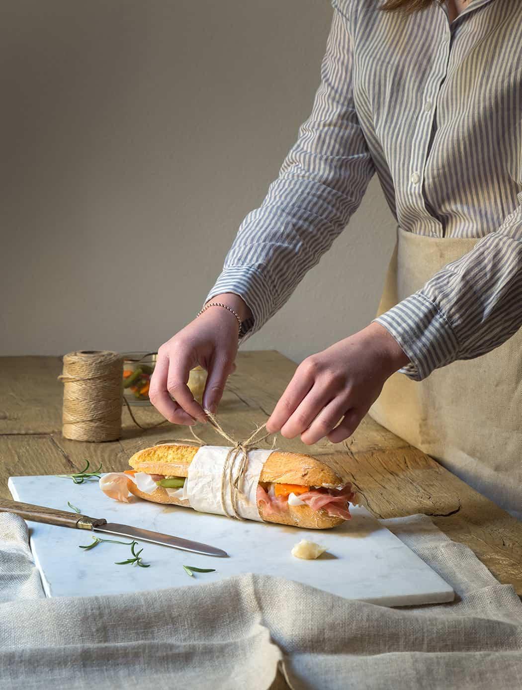 prosciutto di Carpegna ricetta panino