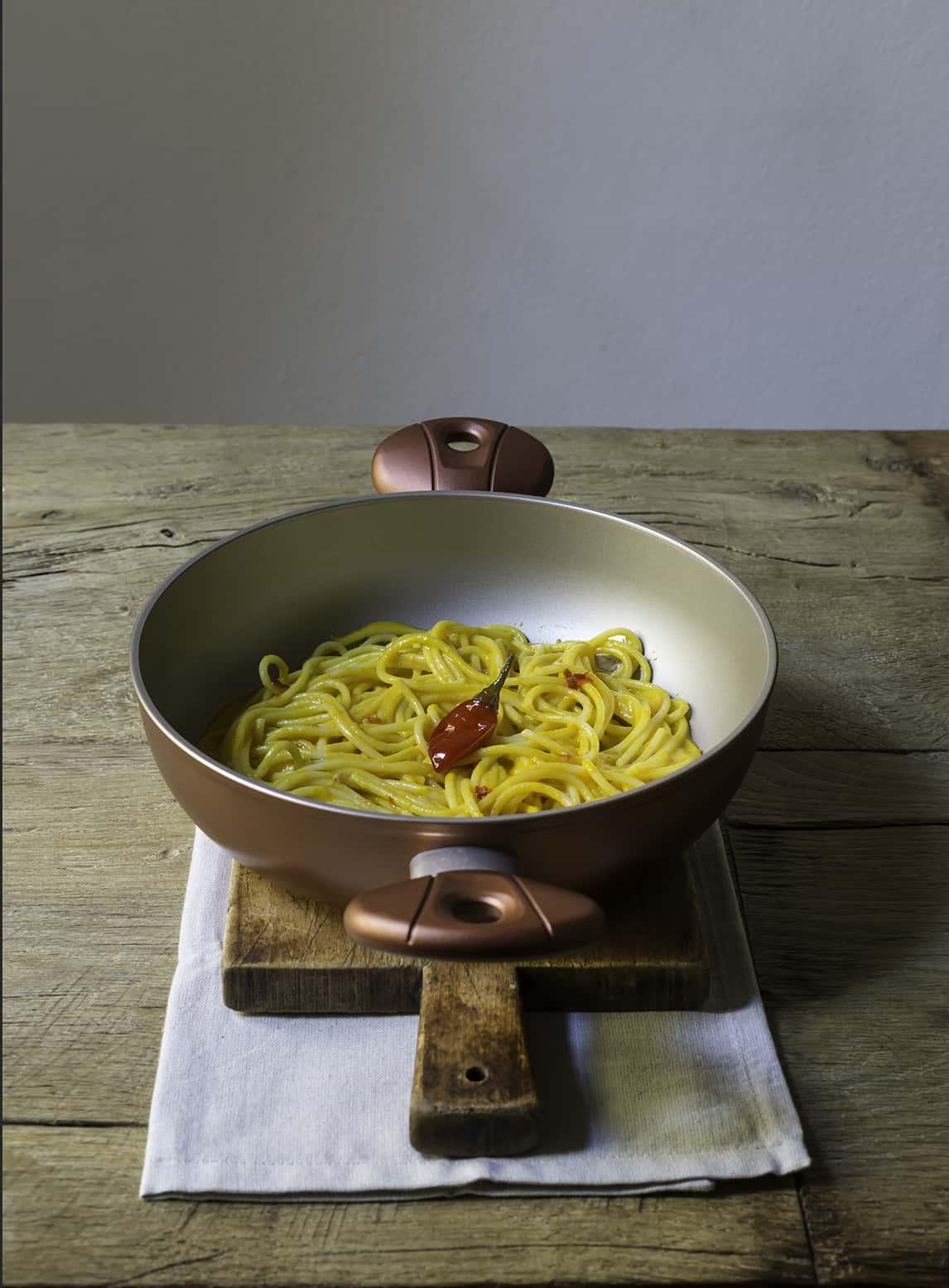 ricetta spaghetti con peperoni