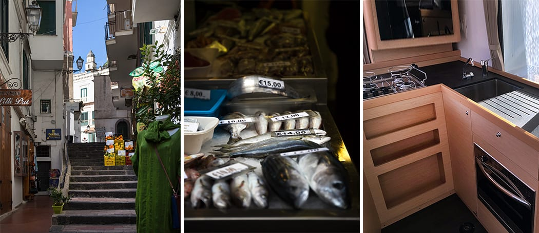 cucinare in barca Sailogy