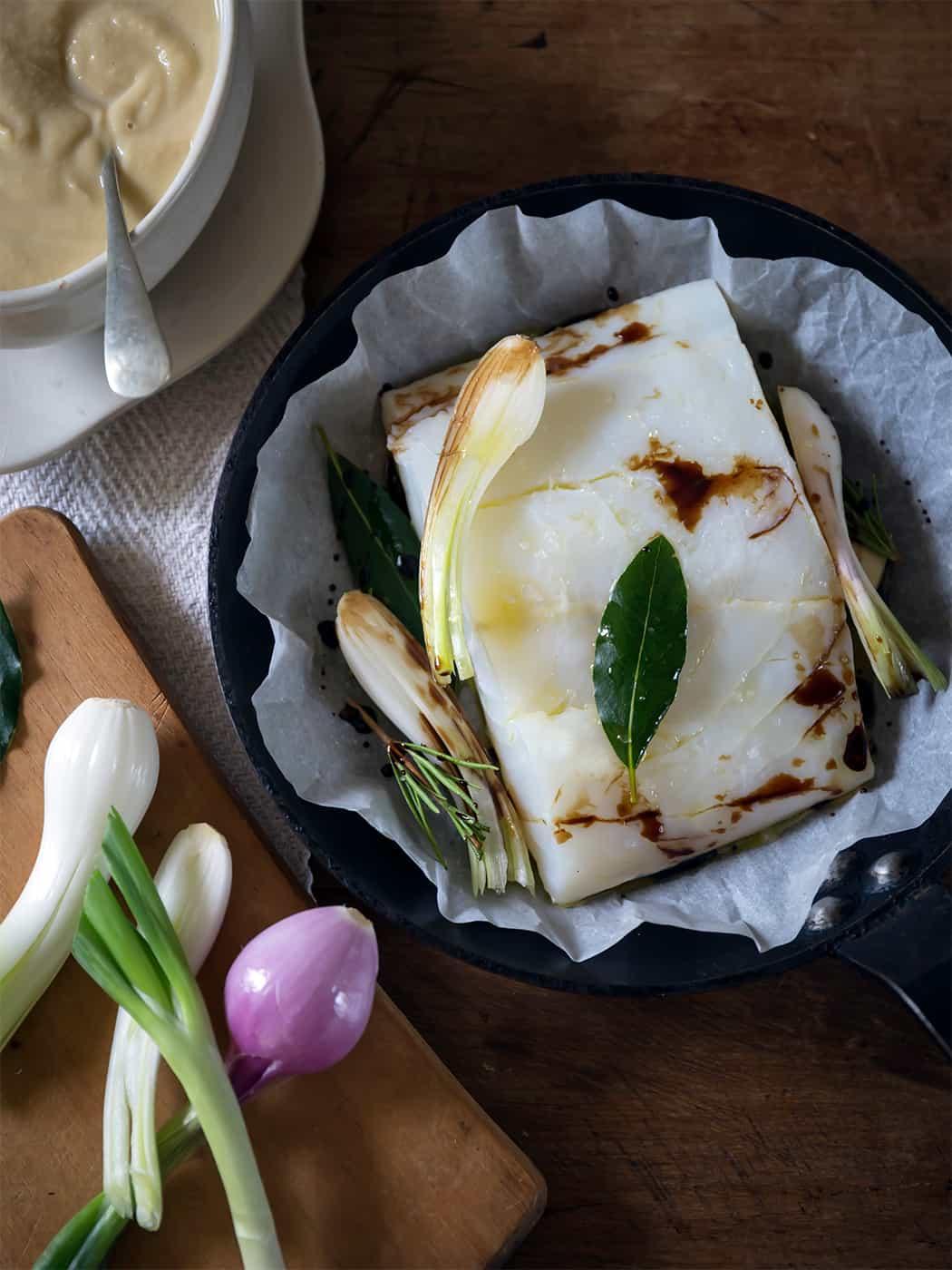 ricetta baccalà con aceto balsamico