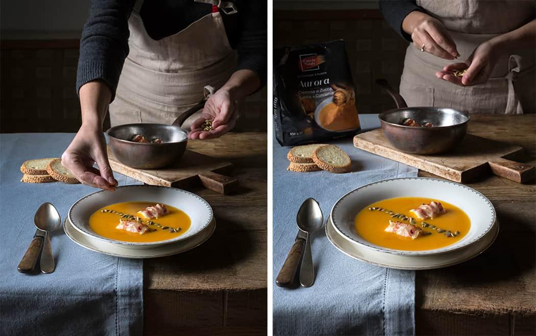 ricette creme di zucca e pancetta