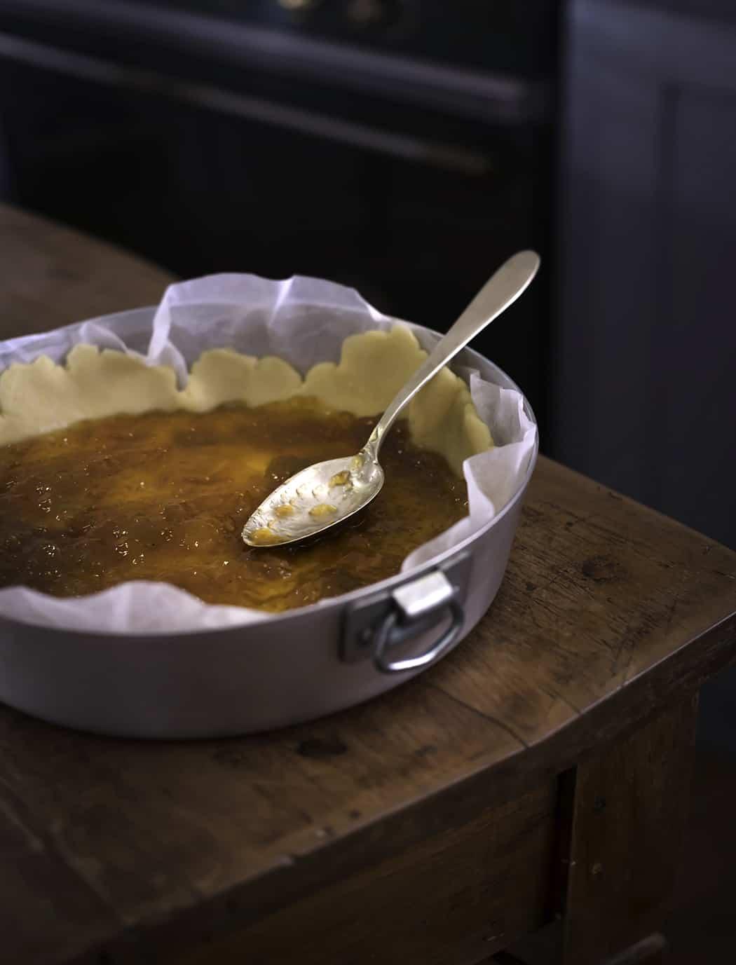 le fasi di preparazione dell'apple pie