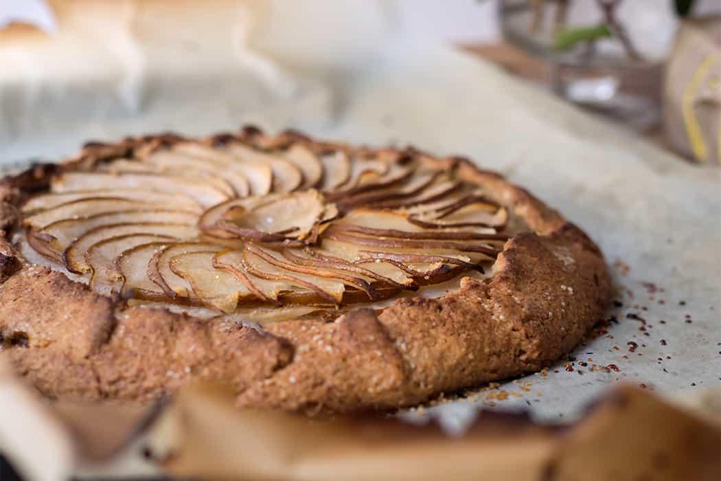 ricette torta integrale con pere