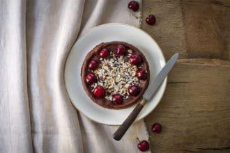 ricette Torta soffice al cioccolato e ciliegie senza burro e farina