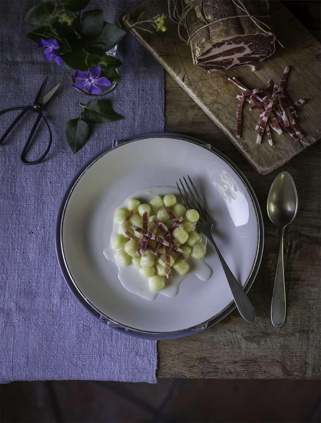 ricette gnocchi al gorgonzola e coppa