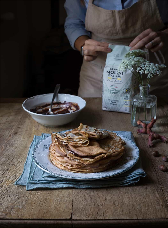 ricette crèpes con cioccolato alle nocciole Sonia Paladini