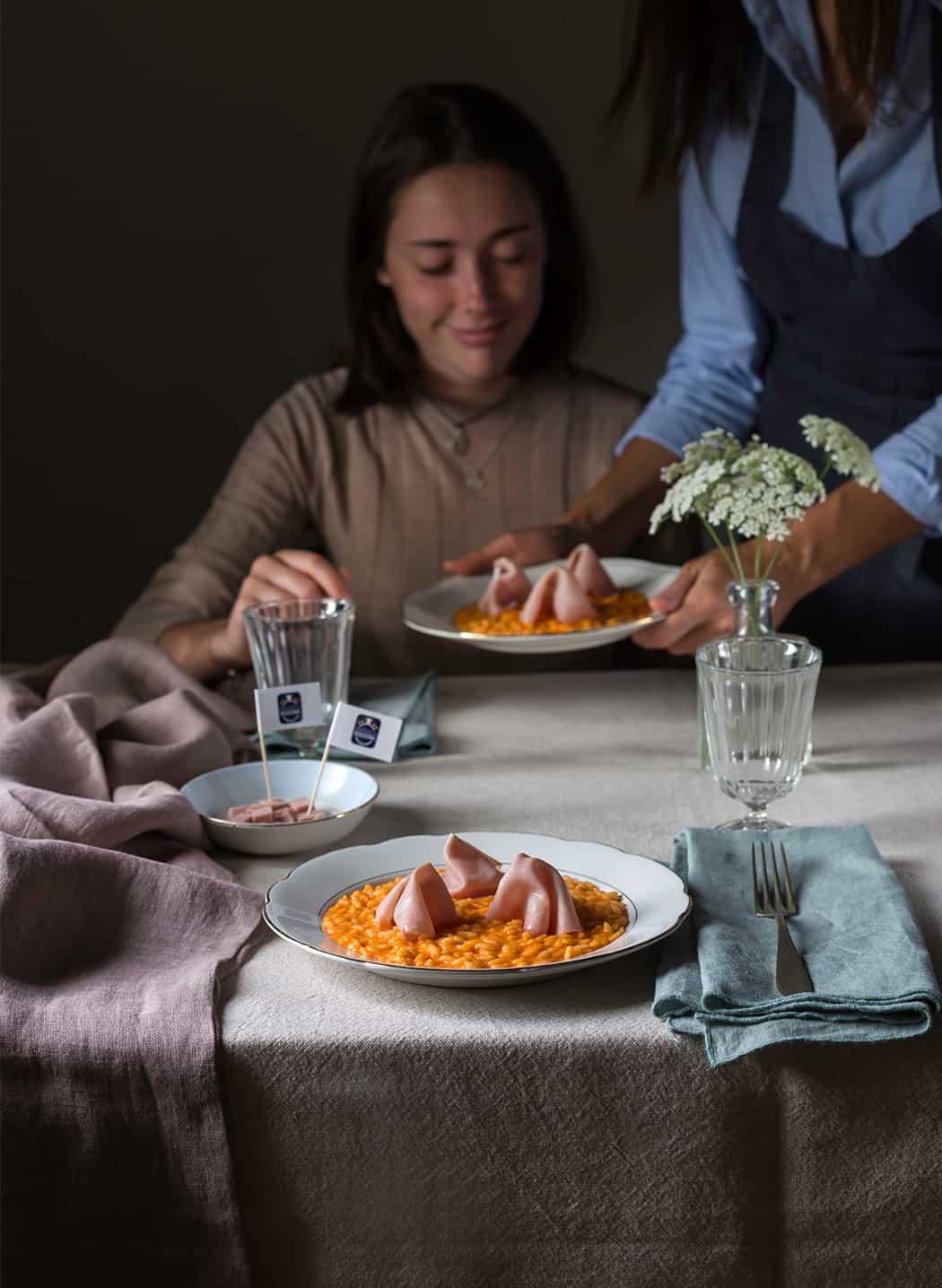 ricetta risotto con crema di peperoni Sonia Paladini