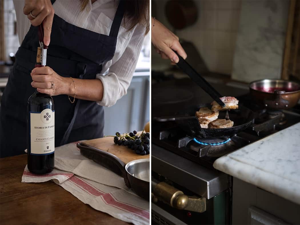 ricetta filetto di maiale con Chianti classico