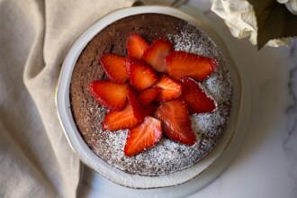 ricetta torta cioccolatino con fragole