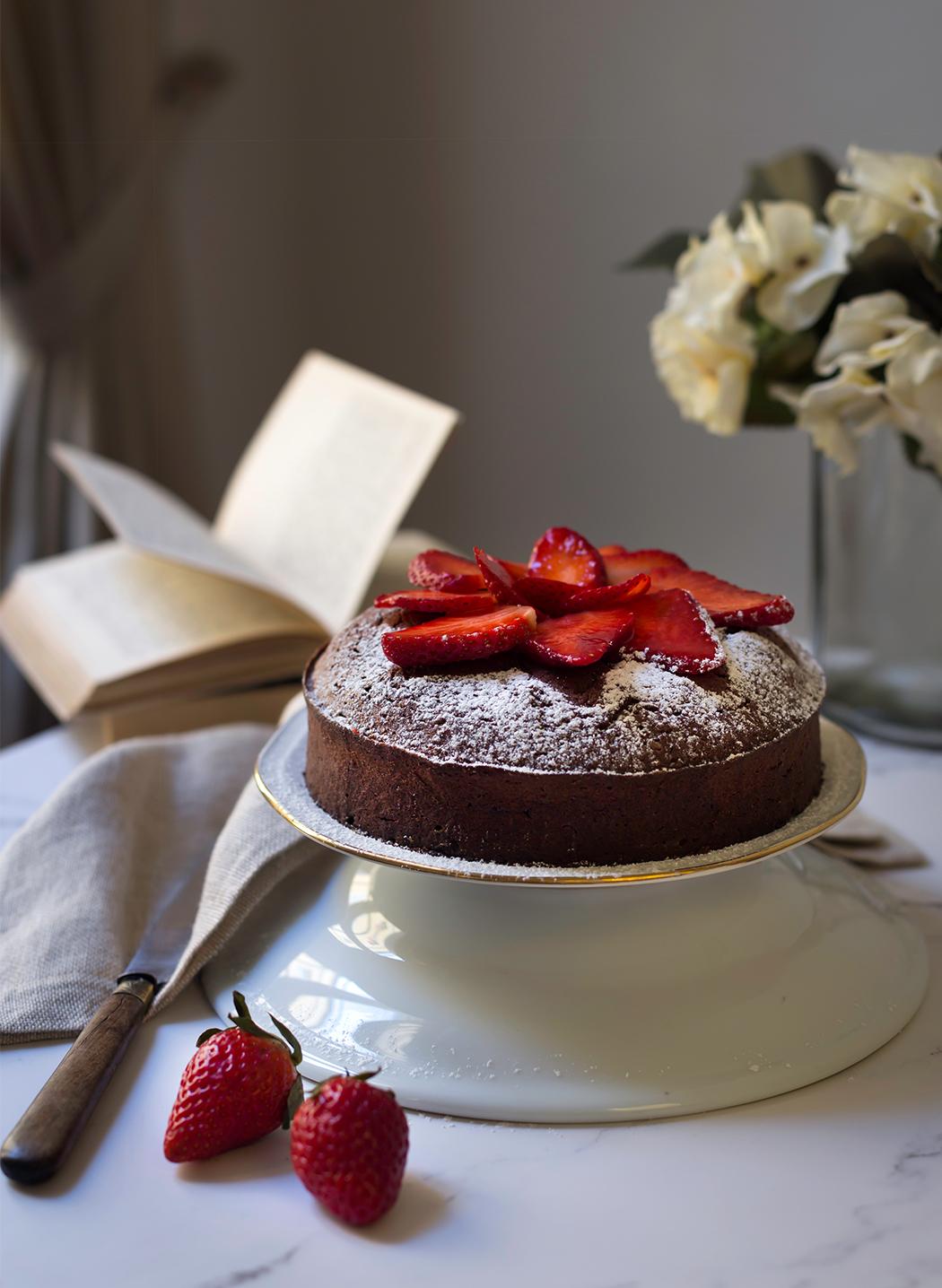 torta cioccolatino con fragole