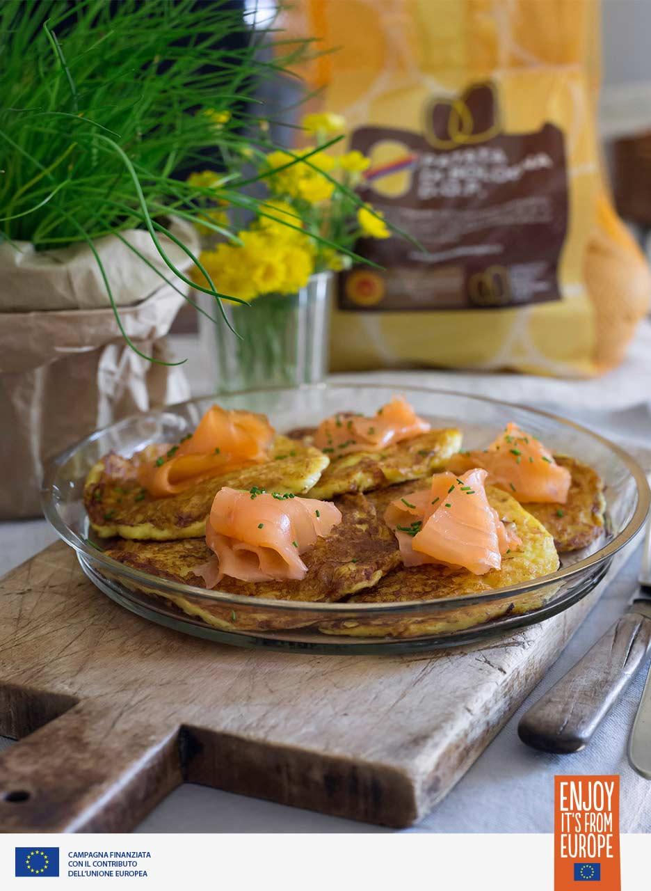 Pancake di patata con salmone affumicato