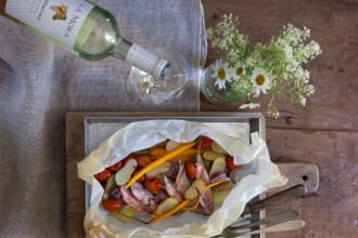 ricetta triglia in cartoccio con verdure