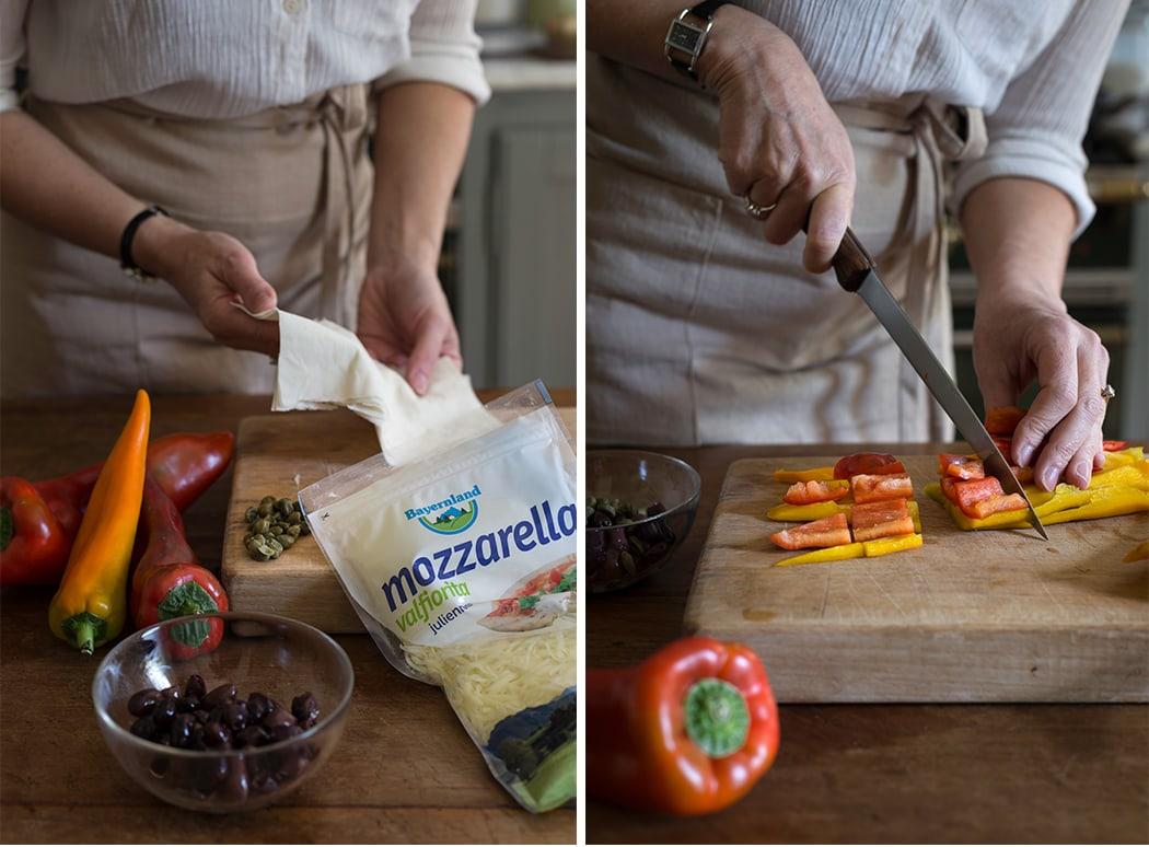 ricetta con pasta fillo e mozzarella joulienne Bayernland