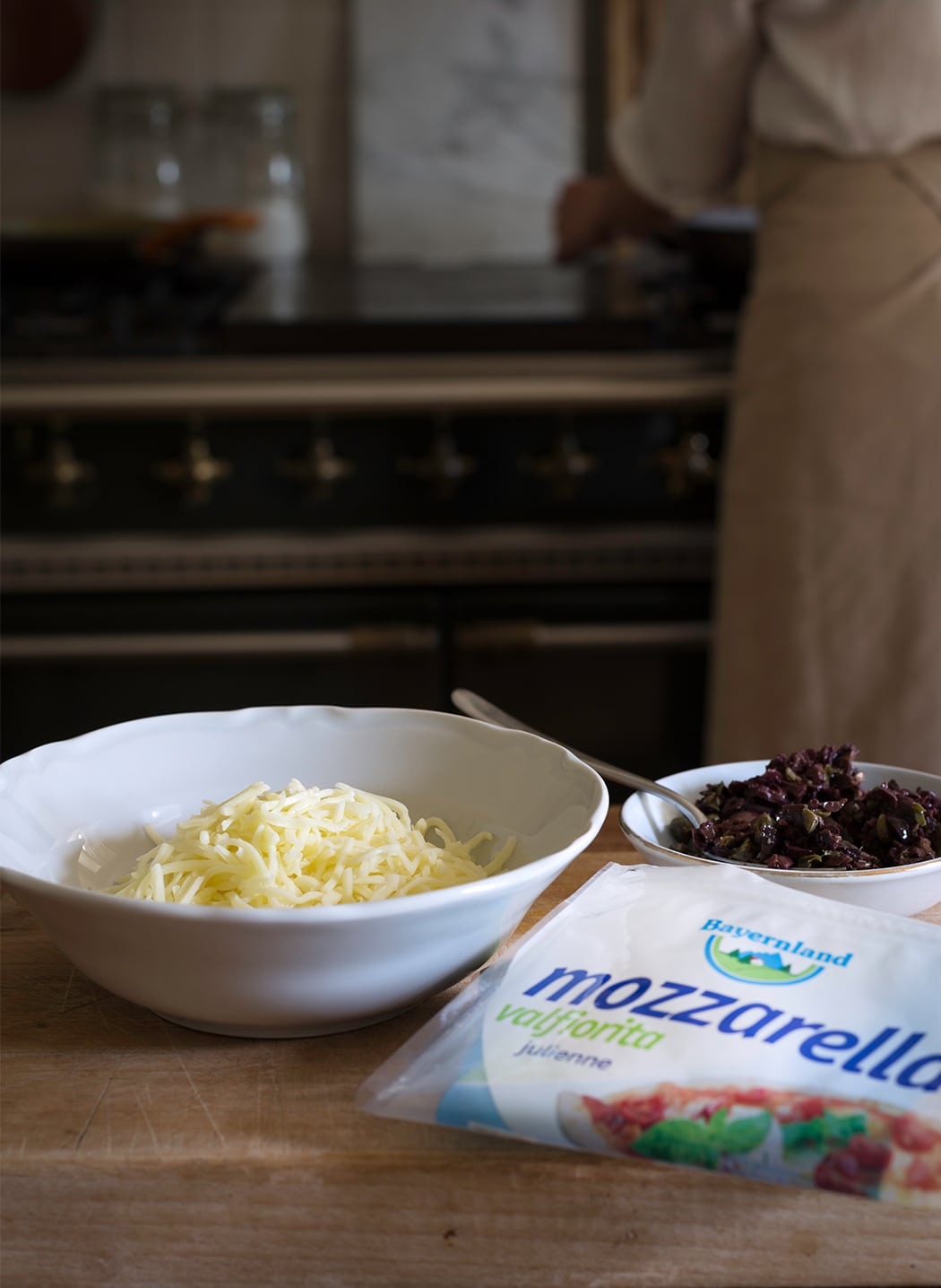 ricette con mozzarella a joulienne e olive
