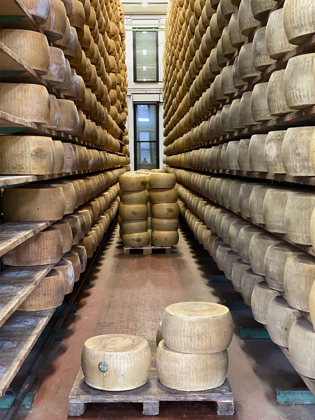la stagionatura del Parmigiano Reggiano