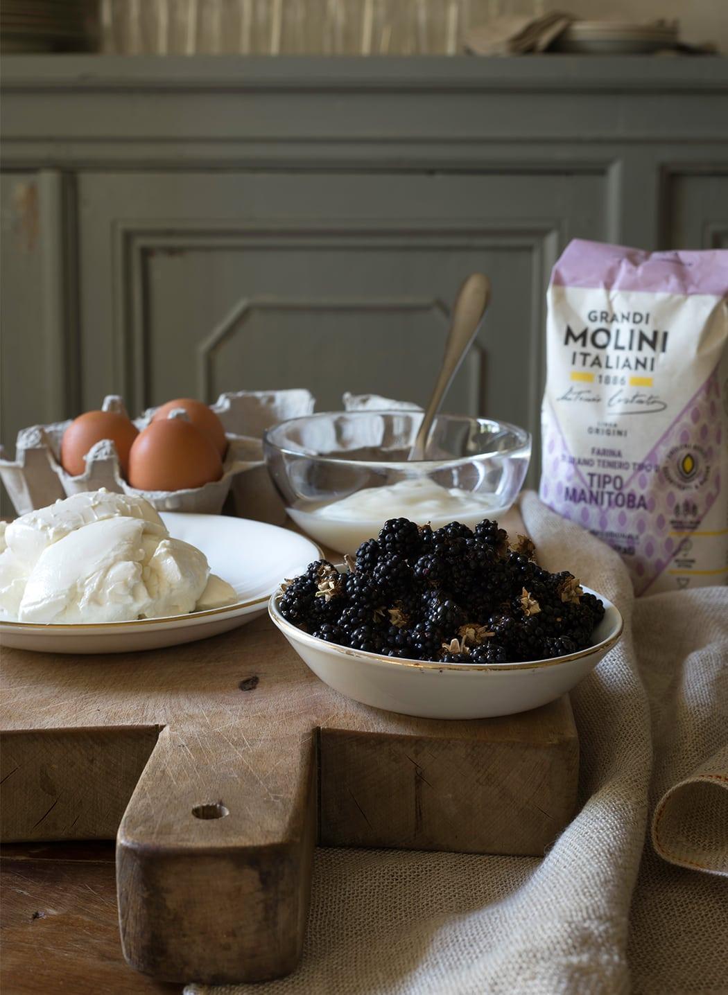 ingredienti per plumcake alle more